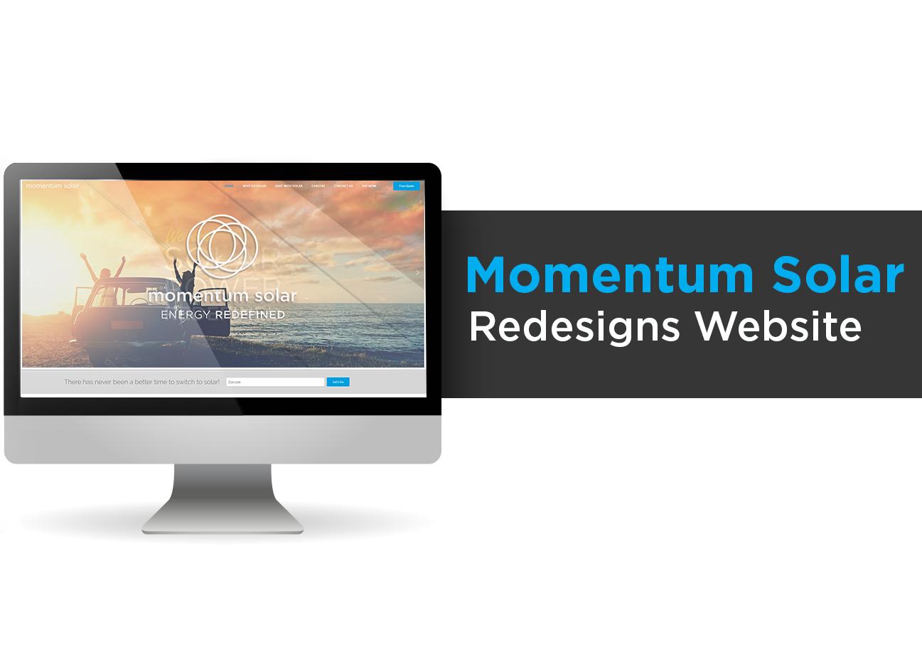 Momentum Solar Redesigns Website