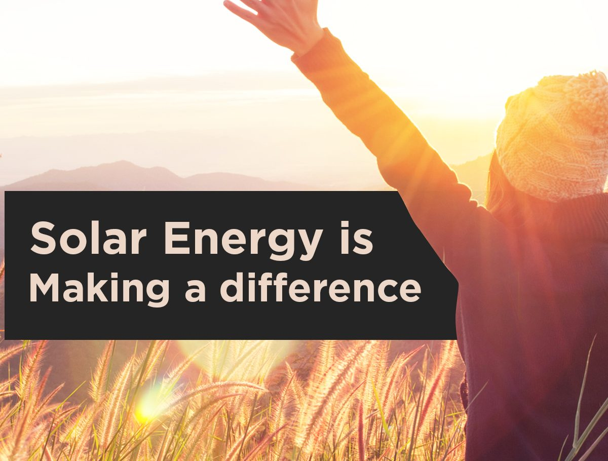 Solar Energy is Making a Difference